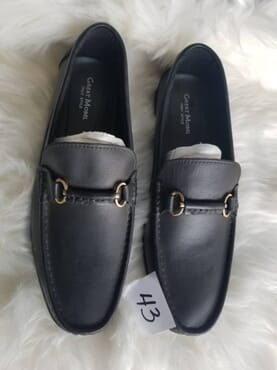 Black Great Model loafers genuine leather