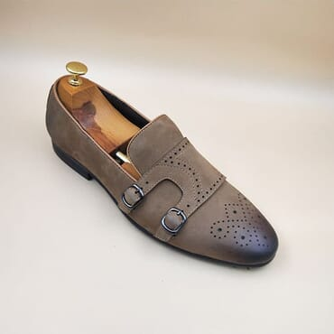 Double strap monk shoe