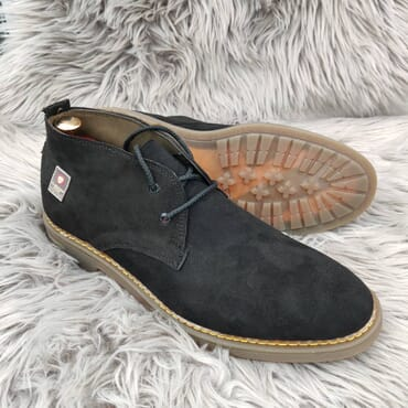 Black Suede Chukka Dress Boot.