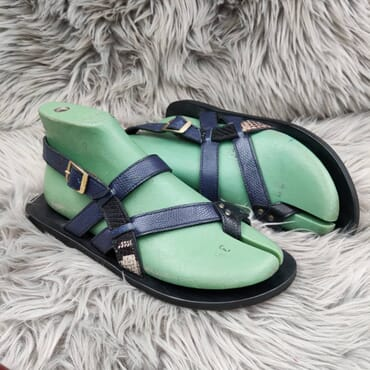 Hand Made Blue Multiple Strap leather Sandals