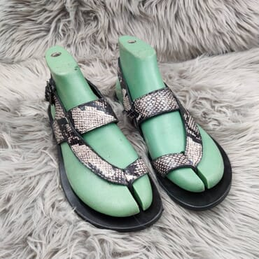 Hand Made Animal Skin Leather Sandals