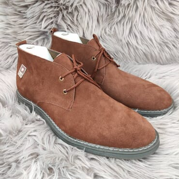 Affordable Brown Suede Chukka Dress Boot.