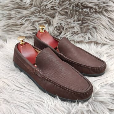 Affordable Brown Slip On Bit Loafers.