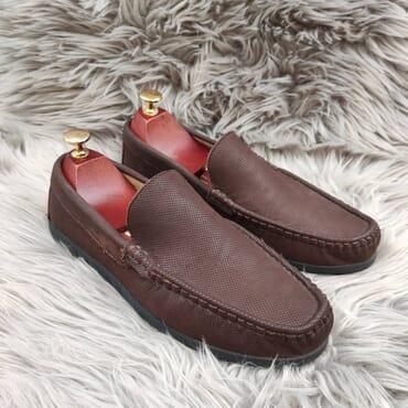 Affordable Brown Slip On Bit Loafers.