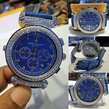 Reversible 2 faced leather Wristwatch