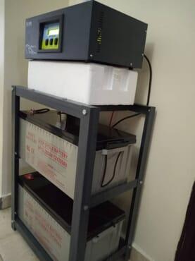 Genus 2KVA/24V inverter / 2 UNITS 24V 200AH BATTERY/ BATTERY RACK / INSTALLATION