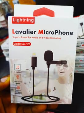 Microphone Micro-Cravate Mic Lavalier Single Mic -Black