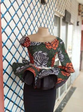 Crinoline peplum blouse