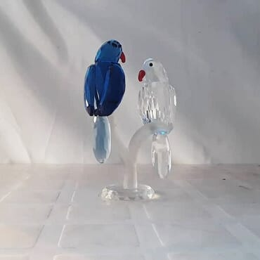 Crystal Twin Love Dove Birds Figurine For Home Decor