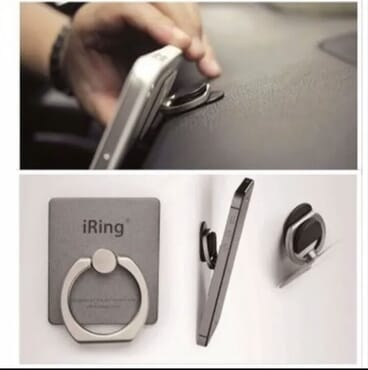 Mobile Phone Ring Stand with 360 Degree Rotation Holder