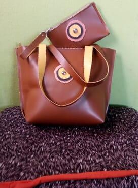 E-Smart Brown Hand Bag