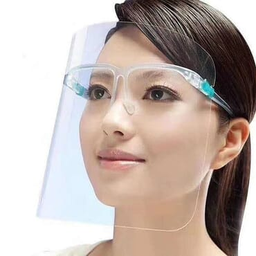 Eye glass face shield