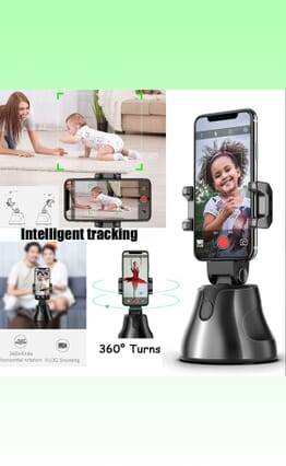 360 Object Tracking Holder All-in-one Rotation Face Tracking Camera Phone Holder Auto Smart Shooting Selfie Stick