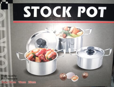 High Quality Kitchenwear Stock Pot