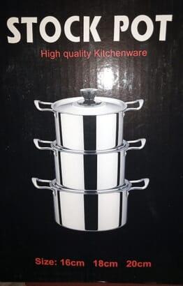 High Quality Kitchenwear Stock Pot