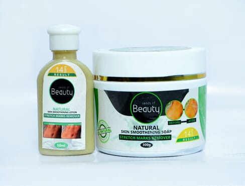 NATURAL SKIN SMOOTHENING SOAP & LOTION ( STRETCH MARKS REMOVER )