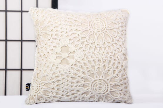Kayito Lace embellished Pillow