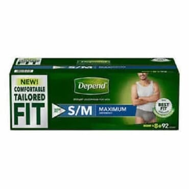 Incontinence Underwear For Men S/M 92 Count