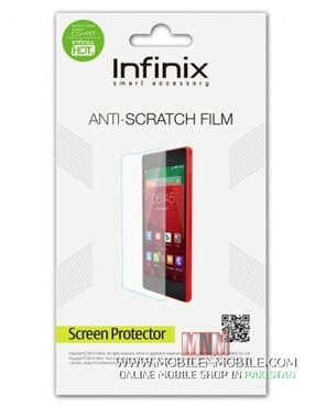 Infinix Hot 3 Flip Cover With Sensor + Screen Protector