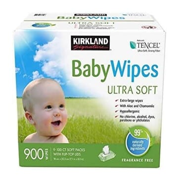 Kirkland Signature Signature Tencel Baby Wipes- 900 Counts