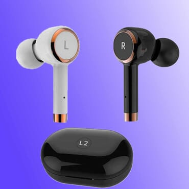 TWS V5.0 Bluetooth Earphones Sport Mini True Wireless Earbuds Column In-Ear IPX5 Swaterproof Headset 3D Stereo HD Business Call Driving
