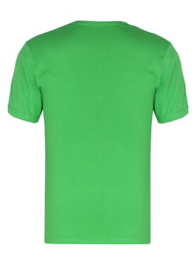 Plain Lemon Green O-neck Polo T-shirt