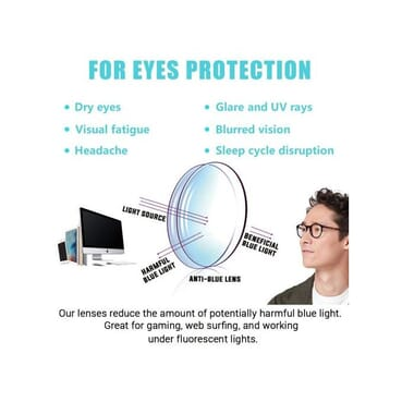 Life Saving Unisex Blue Light Blocking Glasses For Computer Use