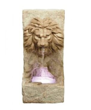 Lion Head on Rock Water Feature