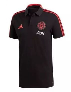MANCHESTER UNITED PRE-MATCH POLO-BLACK