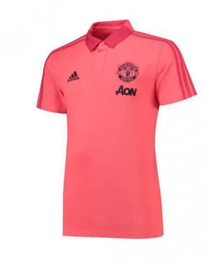 MANCHESTER UNITED PRE-MATCH POLO-PINK