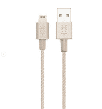 Mixberry MCA-L120T-L015T-GL Apple Lighting Cable Set 1.2 m Gold