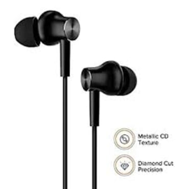 Compatible- Mi Earphone Basic With Ultra Deep Bass And Mic (black)