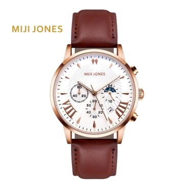 MIJI 0106 Brown leather Chronograph  watch