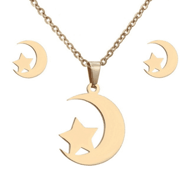 Moon star designed Jewelry set for women