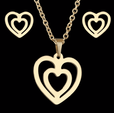 doubled Love designed Jewelry set for women