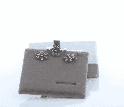 flower earrings and rings set for women