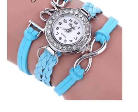 Blue wristwatch bracelet bangle for women