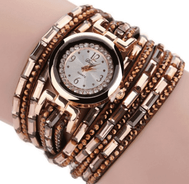 Gold  wristwatch bracelet bangle for women