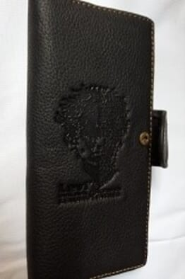 Men's Flat Leather Wallet - Black