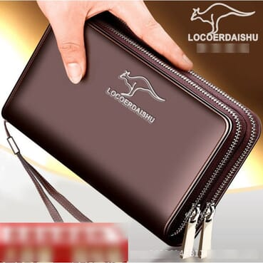 Men PU Leather Long Wallet/Clutch Long Wallet