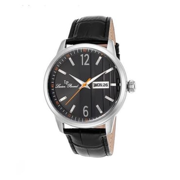 Lucien Piccard Milanese Black Leather And Dial -Silver Case