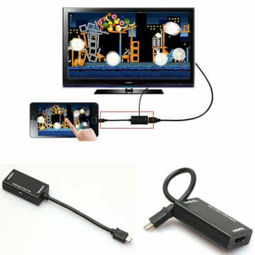 Black HD 1080P Mini Micro USB 2.0 MHL to HDMI Cable For Samsung Galaxy Android