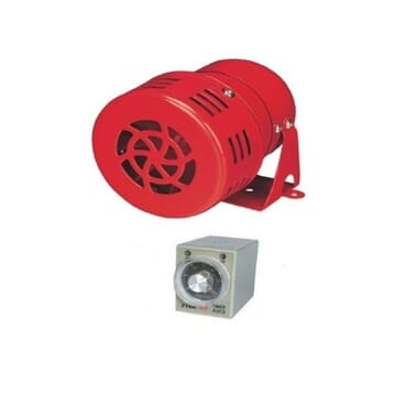 Motor Siren With Alarm Timer Relay/ Generator/Electricity Changeover Siren Switch Notifier For Homes & Offices.
