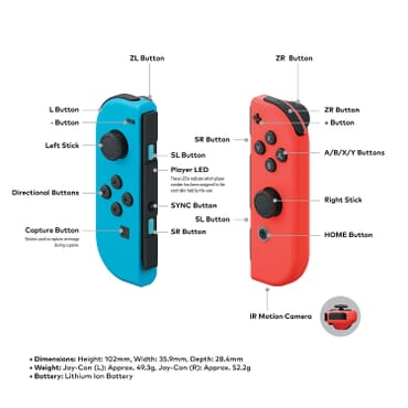 NINTENDO SWITCH CONSOLE BLUE/RED