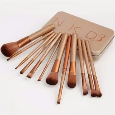 Naked 3 Makeup Powder Brush Set - 12 Pieces