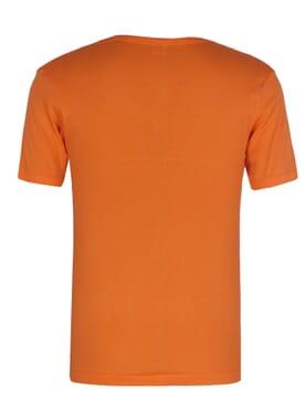Plain Orange V-neck Polo T-shirt