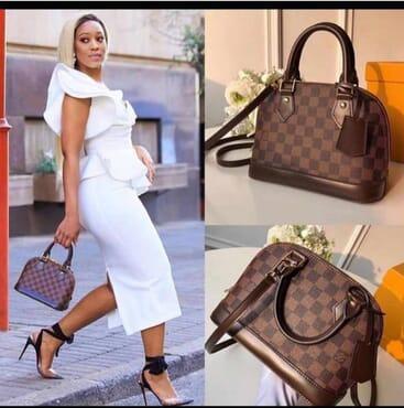 Office ladies handbag - brown