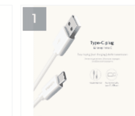 Pisen 2a Usb Type C Cable 1m 3.3ft Usb C Wire Cord Fast Charging Data Usb-c Cable For Phon