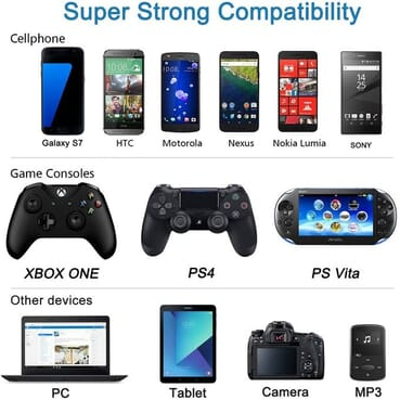 PS4 Controller Charging Cable/Cord/Xbox One Data Cable