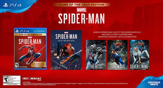 PS4 SPIDERMAN - GAME OF THE YEAR EDITION